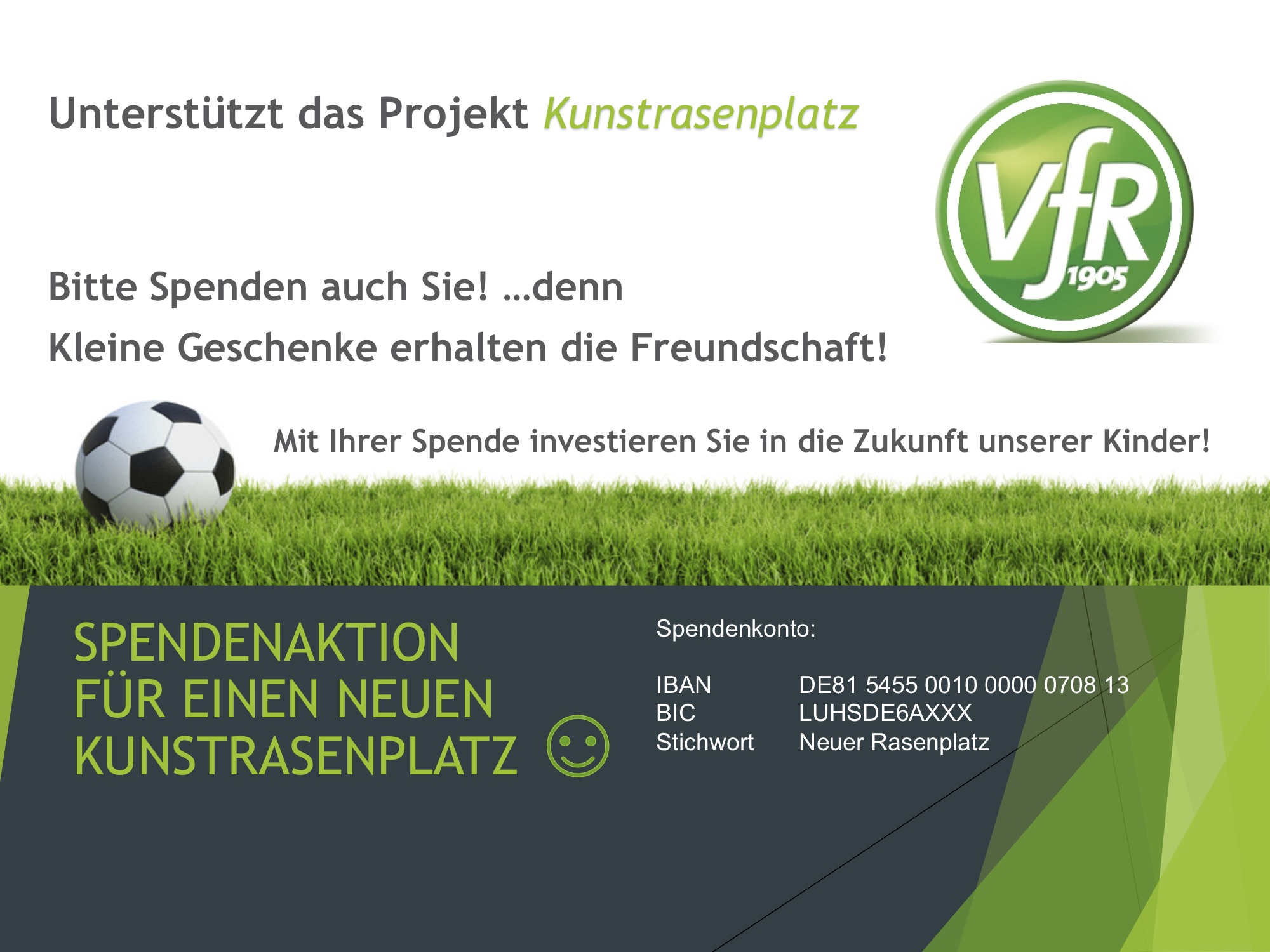 Spendenaktion für unseren neuen Soccercourt